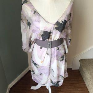 BB Dakota spring dress with crisscross back